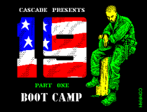 19: Boot Camp by Cascade ZX Spectrum Loading Screen