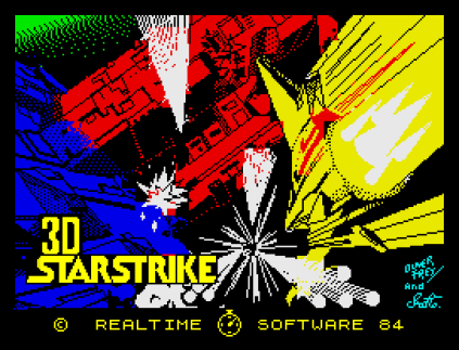 3D Starstrike by Realtime Software ZX Spectrum Loading Screen