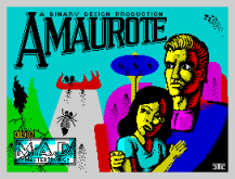Amaurote by Mastertronic Added Dimension ZX Spectrum Loading Screen