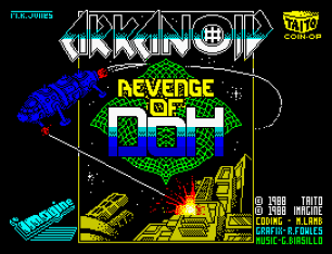 Arkanoid 2 - Revenge of Doh by Imagine ZX Spectrum Loading Screen