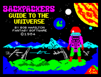 Backpackers Guide To The Universe by Fantasy Software ZX Spectrum Loading Screen