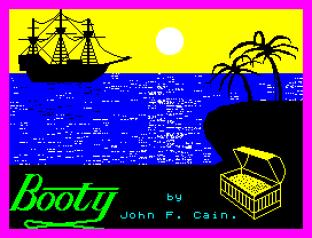 Booty by Firebird ZX Spectrum Loading Screen