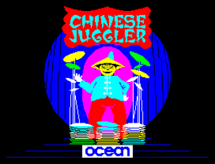 The truly fantastic Chinese Juggler ZX Spectrum Loading Screen art by Ocean Software