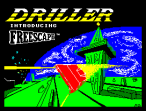 Driller featuring Freescape by Incentive Software ZX Spectrum Loading Screen