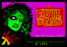 In-your-face 1984 The Evil Dead ZX Spectrum Loading Screen by Palace Software