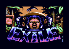 Exile Commodore 64 Loading Screen
