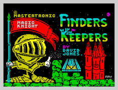 Iconic Finders Keepers by Mastertronic ZX Spectrum Loading Screen