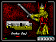 Firelord by Steve Crow and Hewson ZX Spectrum Loading Screen