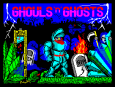 Ghouls N Ghosts by US Gold ZX Spectrum Loading Screen