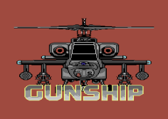 Gunship C64 Loading Screen