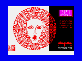 The mysterious Gyron by Firebird. ZX Spectrum Loading Screen