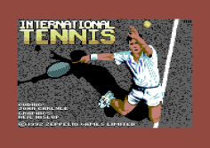 International Tennis Commodore 64 Loading Screen