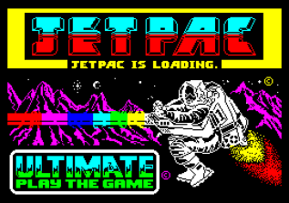 Jet Pac by Ultimate ZX Spectrum Loading Screen