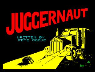 Juggernaut by Pete Cooke for CRL, ZX Spectrum Loading Screen