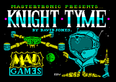 Knight Tyme by David Jones for Mastertronic Added Dimension, ZX Spectrum Loading Screen