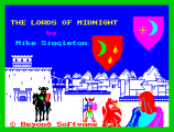 Lords of Midnight by Mike Singleton for Beyond Software, ZX Spectrum Loading Screen