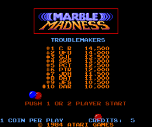 Marble Madness Arcade 01