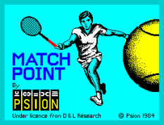 Match Point by Psion 1984, ZX Spectrum Loading Screen