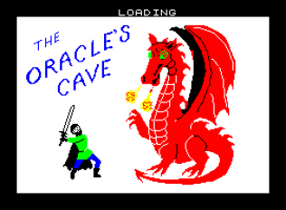 The Oracle's Cave by Doric Computer Services ZX Spectrum Loading Screen
