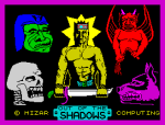 Out of the Shadows by Mizar Computing 1984 ZX Spectrum Loading Screen