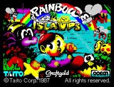 Rainbow Islands by Graftgold for Ocean, ZX Spectrum Loading Screen