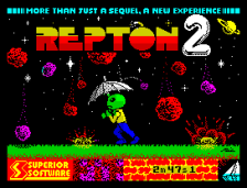 Repton 2 by Superior Software, ZX Spectrum Loading Screen