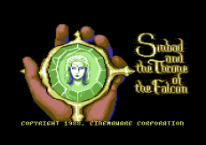 Sinbad and the Throne of the Falcon Commodore 64 Loading Screen