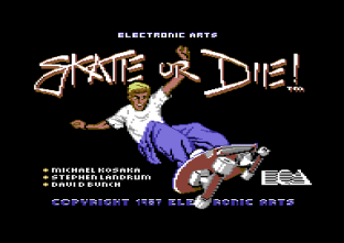 Skate Or Die C64 Loading Screen