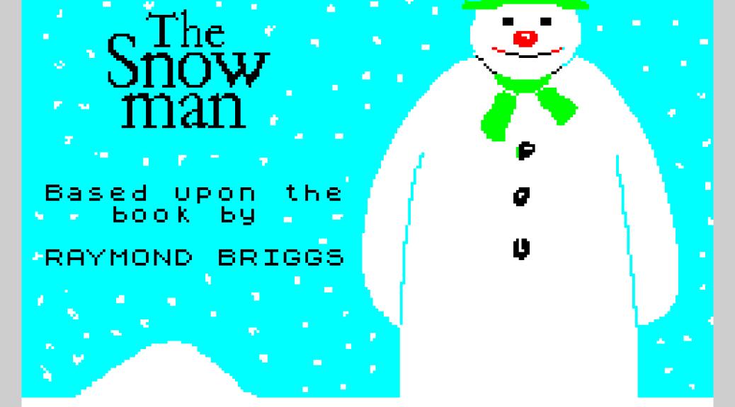 The Snowman by Quicksilva 1983, ZX Spectrum Loading Screen
