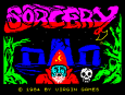 Sorcery 1984 by Virgin Games, ZX Spectrum Loading Screen