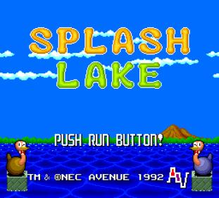 Splash Lake PC Engine CD