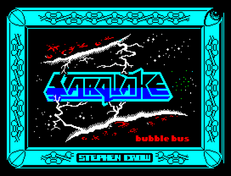 Starquake by Steve Crow for Bubble Bus ZX Spectrum Loading Screen