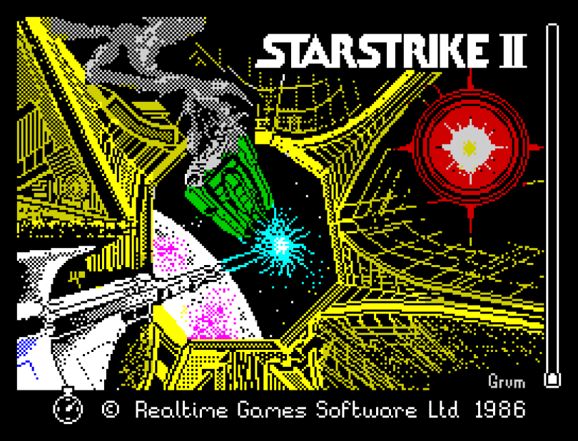 Starstrike 2 by Realtime Games 1986 ZX Spectrum Loading Screen
