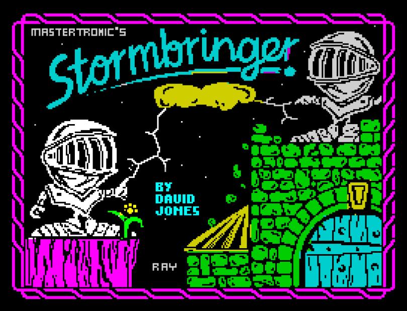 Stormbringer ZX Spectrum Loading Screen