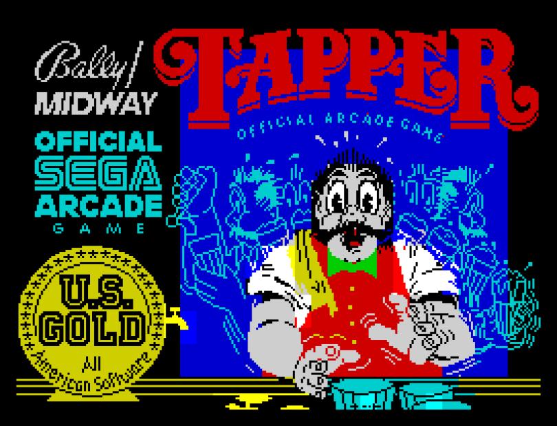 Tapper by US Gold ZX Spectrum Loading Screen