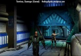 A corridor scene in the canned game Terminus. Developed by Scavenger in 1994.