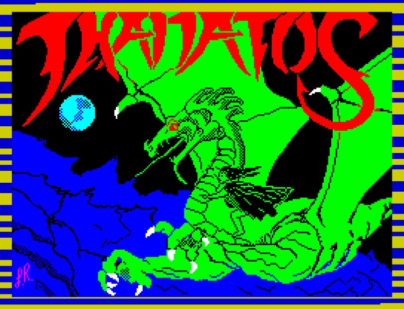 Thanatos by Durrell ZX Spectrum Loading Screen