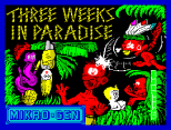 Three Weeks In Paradise by Mikro-Gen, ZX Spectrum Loading Screen