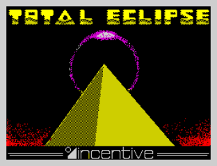 Total Eclipse by Incentive Software ZX Spectrum Loading Screen