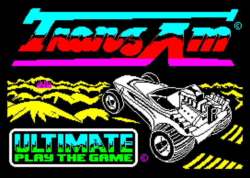 Tranz Am by Ultimate ZX Spectrum Loading Screen