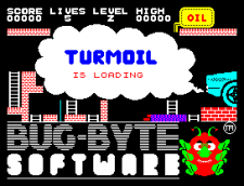 Turmoil by Bug-Byte Software, ZX Spectrum Loading Screen