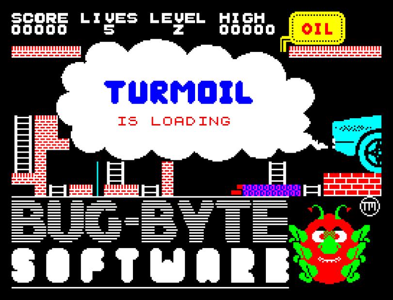 Turmoil by Bug-Byte Software, ZX Spectrum Loading Screen