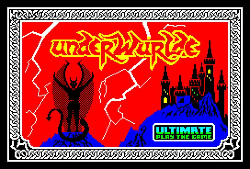 Underwurlde by Ultimate ZX Spectrum Loading Screen