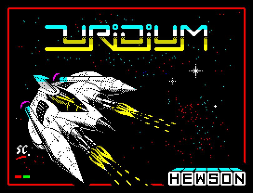 Uridium by Hewson ZX Spectrum Loading Screen