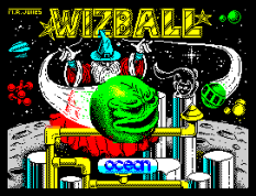 Wizball by Ocean, ZX Spectrum Loading Screen