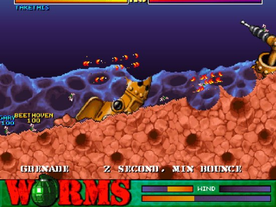 Worms PS1 ROM #32