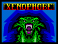 The brilliantly-striking Xenophobe by Micro Style, ZX Spectrum Loading Screen