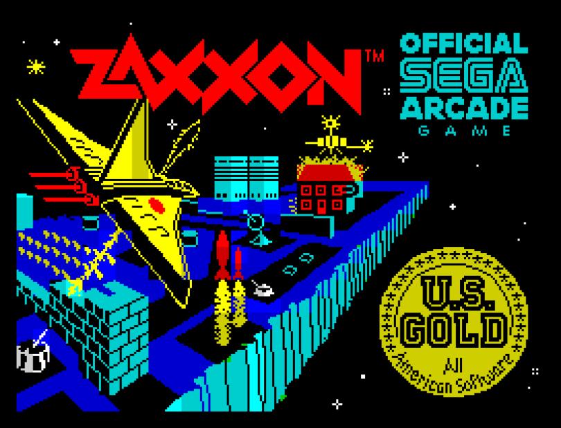 Zaxxon by US Gold, ZX Spectrum Loading Screen