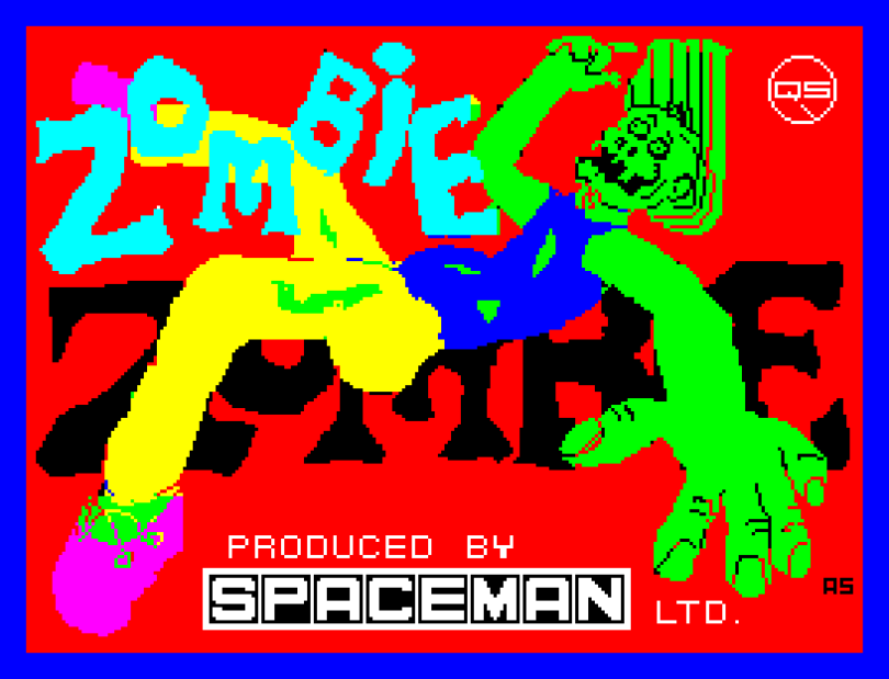 Zombie Zombie by Sandy White and Spaceman, published by Quicksilva - ZX Spectrum Loading Screen