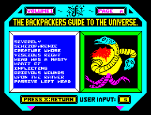 Backpackers Guide to the Universe ZX Spectrum 23